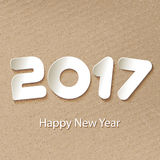Vector Happy New Year 2017 background with paper cuttings Stock Photos
