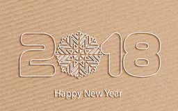 Vector Happy New Year 2017 background with paper cuttings Stock Photo