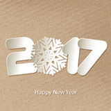 Vector Happy New Year 2017 background with paper cuttings Royalty Free Stock Photography