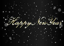 Vector 2017 Happy New Year background with snow. Vector 2017 Happy New Year black background with snow Stock Photos