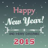Vector 2015 Happy New Year background in Typography style.  vector illustration