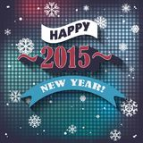 Vector 2015 Happy New Year background in Typography style.  Royalty Free Stock Image