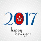 Vector 2017 Happy New Year background. With white Stock Photography