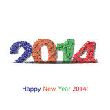 Vector happy new year 2014 background. Vector background for your business Stock Photo