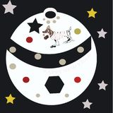 Vector - Happy New Year 2018 , ball with dog. Holidays royalty free illustration