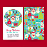 Vector Happy New Year Banners Set Template. Happy New Year Banners Set Template. Flat Style Vector Illustration of Brand Identity for Merry Christmas Promotion vector illustration
