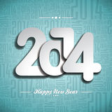 Vector Happy New Year 2014 celebration design on a. Typographic background Stock Photos