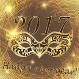 Vector happy New Year 2017 and Christmas Stock Photo