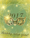 Vector happy New Year 2017 and Christmas. Stock Images