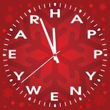 vector happy new year clock Stock Images