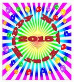 Vector Happy New Year - colorful background Stock Photography
