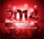 Vector Happy New Year 2014 colorful background Royalty Free Stock Photography