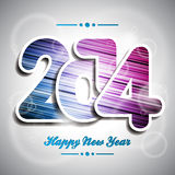 Vector Happy New Year 2014 colorful celebration background Stock Image