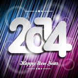 Vector Happy New Year 2014 colorful celebration background Royalty Free Stock Images