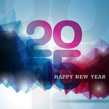 Vector Happy New Year 2015 colorful celebration background. Royalty Free Stock Photography
