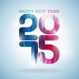 Vector Happy New Year 2015 colorful celebration background. Royalty Free Stock Image