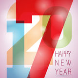 Vector Happy New Year 2017 colorful celebration background with abstract number elements. EPS 10 illustration Royalty Free Stock Images