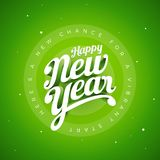 Happy New Year Vector custom 3d hand lettering typographic desig Stock Images