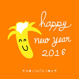 Vector Happy New Year 2016. Decorative hand drawn inscription, Illustration EPS10. Great for any use Stock Photos