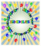 Vector Happy New Year,  eps10  Royalty Free Stock Images