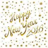 Vector - 2016 Happy New Year golden glowing. Art Stock Photos