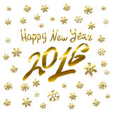 Vector - 2016 Happy New Year golden glowing. Art Stock Photography