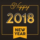 Vector 2018 Happy New Year greeting card and background. Vector 2018 Happy New Year for background and greeting card with halftone style Stock Photography