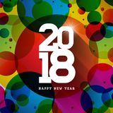 Vector Happy New Year 2018 Illustration on Shiny Colorful Background with Typography Design. EPS 10. Vector Happy New Year 2018 Illustration on Shiny Colorful Stock Image