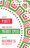 Vector Happy New Year or Merry Christmas theme Save the Date Inv. Itation to the Party Stock Images