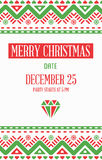 Vector Happy New Year or Merry Christmas theme Save the Date Inv. Itation to the Party Royalty Free Stock Photography
