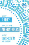 Vector Happy New Year or Merry Christmas theme Save the Date Inv Royalty Free Stock Photography