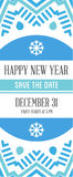 Vector Happy New Year or Merry Christmas theme Save the Date Inv Royalty Free Stock Image