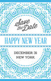 Vector Happy New Year or Merry Christmas theme Save the Date Inv. Itation to the Party stock illustration
