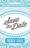 Vector Happy New Year or Merry Christmas theme Save the Date Inv. Itation to the Party royalty free illustration