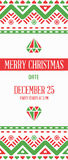 Vector Happy New Year or Merry Christmas theme Save the Date Inv. Itation to the Party Royalty Free Stock Photo