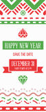 Vector Happy New Year or Merry Christmas theme Save the Date Inv. Itation to the Party Stock Photography