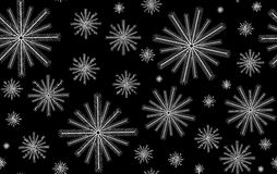 Vector Happy New Year seamless pattern with decorative snowflakes Stock Photo