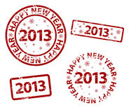 Vector Happy New Year stamp. Vector Happy New Year grunge stamp vector illustration