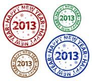 Vector Happy New Year stamp Stock Photos