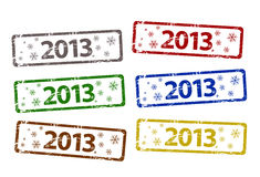 Vector Happy New Year stamp Royalty Free Stock Photos