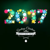 Vector 2017 Happy new year Text Design vector. Vector illustration of 2017 Happy New Year background stock illustration
