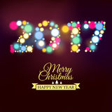 Vector 2017 Happy new year Text Design vector. Vector illustration of 2017 Happy New Year background royalty free illustration
