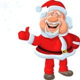 vector Happy Santa Claus shows OK stock photos
