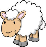 Vector of Happy Sheep Royalty Free Stock Photography