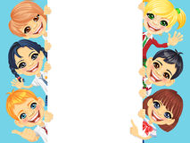 Vector happy smile kids and banner Royalty Free Stock Image