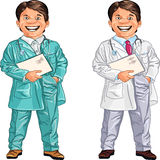 vector Happy smiling doctor and veterinarian Stock Image