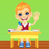 Vector happy smiling schoolboy Stock Photos