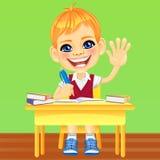 Vector happy smiling schoolboy stock photos