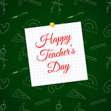 Vector Happy Teacher s Day over cell sheet Royalty Free Stock Photography