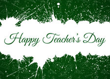 Vector Happy Teacher s Day over ink blots Stock Photography